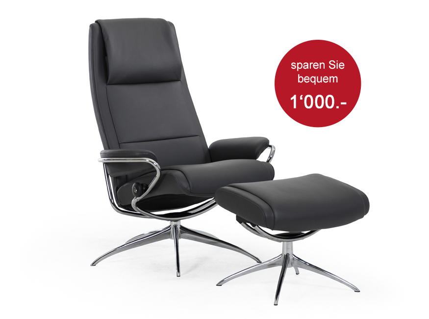 Stressless Paris - Paloma Rock        Sessel und Hocker